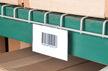 Deck ID Label Holder for Wire Decking in Pallet Racks