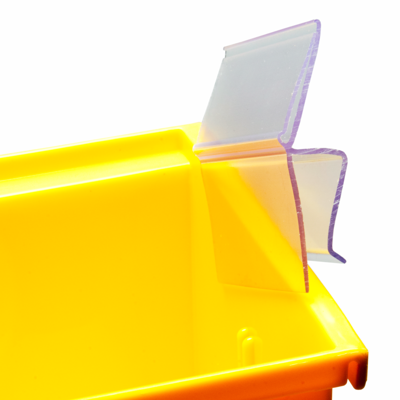 Bin Clip Insertable Sheets Label Holder Highly Visible