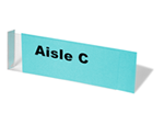 aisle marker labels holders