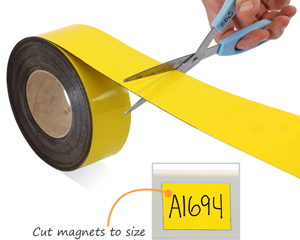 Writable Magnetic Labels on a Roll