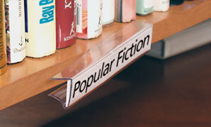 Clip On Shelf Label Holders