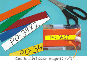 Magnetic Labels for Shelves, Racks and Warehouses