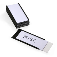 Magnetic 'C' Channel Label Holder, 2 in. x 4 in.