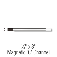 Magnetic 'C' Channel Label Holder, 1/2 in. x 8 in.