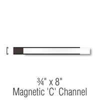 Magnetic 'C' Channel Label Holder, 3/4 in. x 8 in.