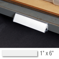 Hi-Lo Label holder, 1 in. x 6 in., Clear