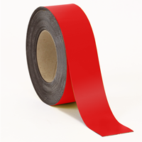 Magnetic Blank Write-On Red Label Roll