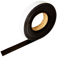 Magnetic Write-On Label Holder Roll, 1 in. x 50'