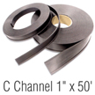 Magnetic C Channel Roll Stock, 1 in. x 50'
