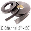 Magnetic 'C' Channel Roll Stock, 3 in. x 50'