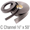 Magnetic 'C' Channel Roll Stock, 1/2 in. x 50'