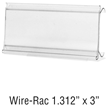 WireRac, wire shelving label holder