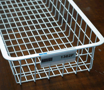 Wirerac Wire Shelving Label Holders